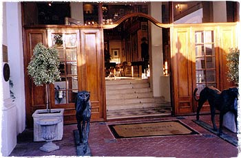 Lanzerac Manor and Winery Entrance