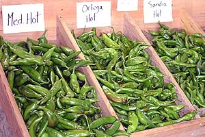 New Mexican Chile varieties offer various heat levels.