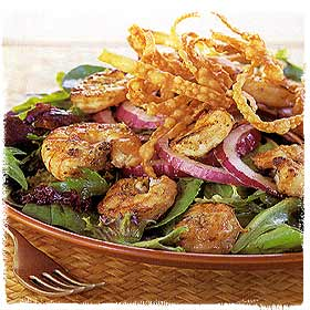 Gingered and Grilled Shrimp Salad