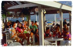 A Beachfront Café Filled with Tourists