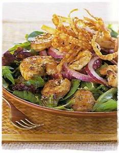 Gingered and Grilled Shrimp Salad