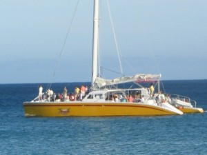 Feasting on a Catamaran