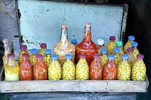 Pickled peppers in the Mercado de São Jose in Recife