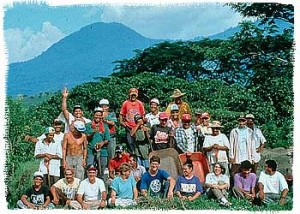 The crew of the Cerén excavation