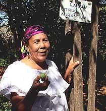 Dinah Veeris at her Den Paradera garden