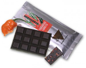 Commercial Dark Chocolate with Candied Habaneros