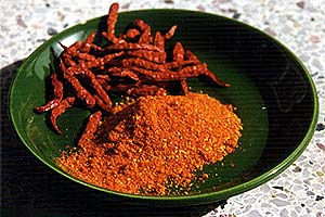 Dried chiles, whole and ground