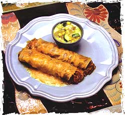 Chile Colorado Enchiladas with Calabacitas