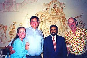 Dominque, Pat, Ahad, Dave at Jaipur