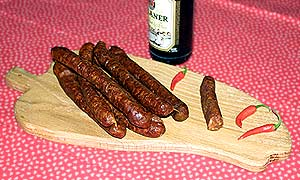 Fiery-hot Sündenbüsser sausages