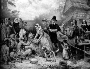 Everyone's Fantasy of the first Thanksgiving