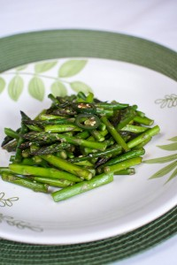 Gingered and Peppered Asparagus