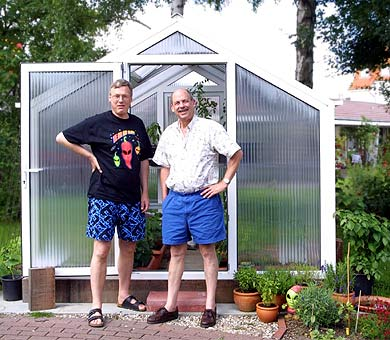 Dave & Harald at HZ's Greenhouse
