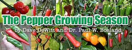The Pepper Growing Season, by Dave DeWitt and Dr. Paul W. Bosland