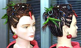 Chile Pepper Hairstyle