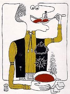 Holiday Magazine's Famous Chili Illustration, 1967