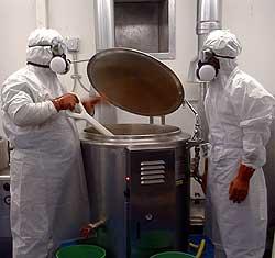 Cooking a superhot sauce