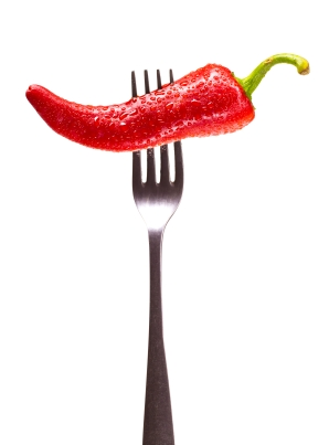 Chile Pepper on Fork