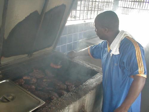 Turning the Jerk Pork