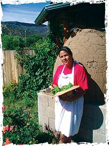 Margaret Campos with some of her harvest