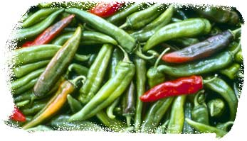 Fresh Red and Green New Mexican Chiles
