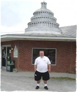 Ray in front of the Skylight Inn