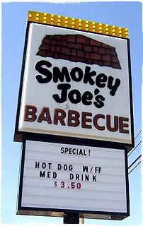 Smokey Joe's Sign