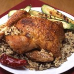 Southwestern Roasted Turkey with Green Chile Piñon Dressing