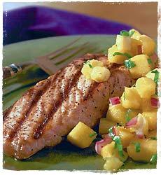 Salmon with Madras Mango Chutney