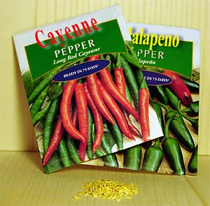 Commercial Seed Packets, Pepper Seed