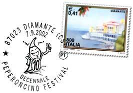 Peperoncino stamp and postmark