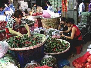 Thai market Place Scene