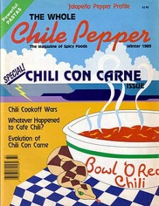October '89 Chili Cover of The Whole Chile Pepper