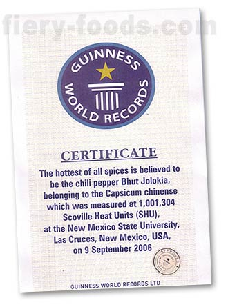 Guinness World Record for Bhut Jolokia