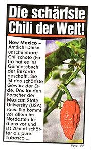 Bhut News in German tabloid