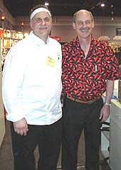 Jimmy Bannos (left), Dave DeWitt