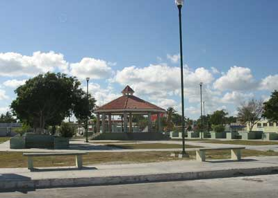 The plaza in Chelem
