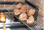 grilling the steaks