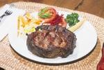 A perfectly cooked ribeye steak