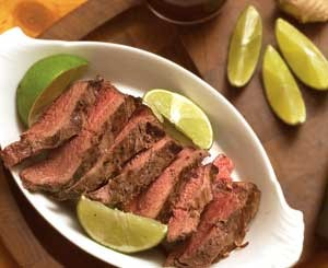 Grilled ostrich tenderloins