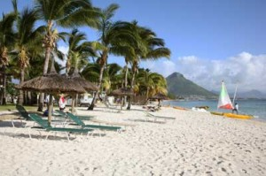 Mauritius is known for its exotic beaches.