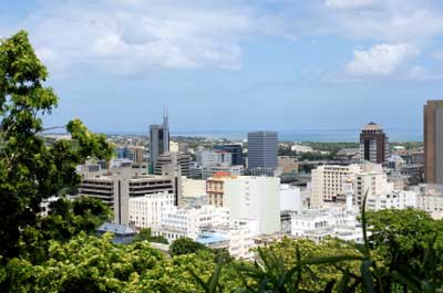 Port Louis, the capital of Mauritius.