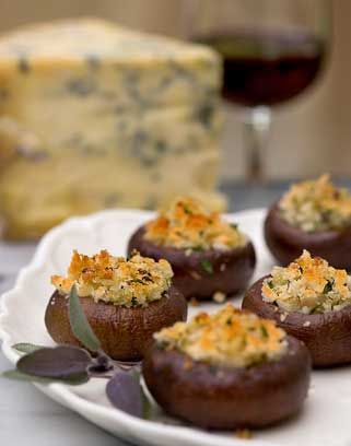 Stilton-Stuffed Mushrooms