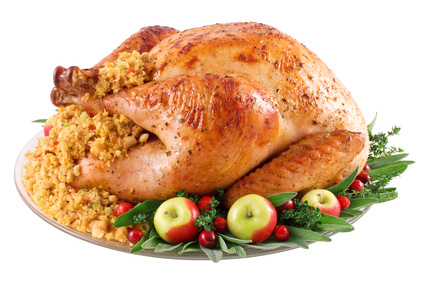 Turkey with Green Chile-Cornbread-Piñon Stuffing