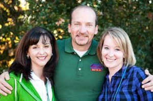 Melanie with Chris Lilly of Big Bob Gibson's BBQ, and Erin Simpson of Better Homes.