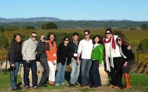 The Kingsford University students on a winery tour