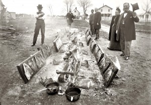 Shad Barbecue at Marshall Hall, Maryland, in 1893. Photograph by William Cruikshank.