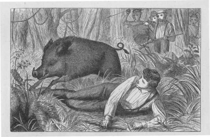 Boar Hunt, Jamaica, c. 1870