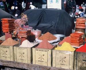Afghan spice vendor.
