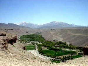 Agricultural areas like this in the Koshi Valley provided produce for Kabul.